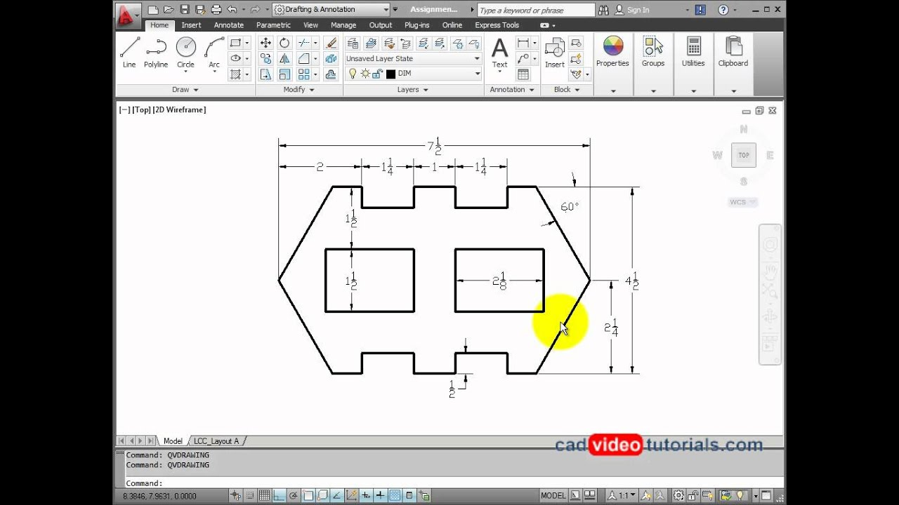 Online Layout Tool Autocad 2012 Drawing Project 8 2 Sheet Metal Stamping