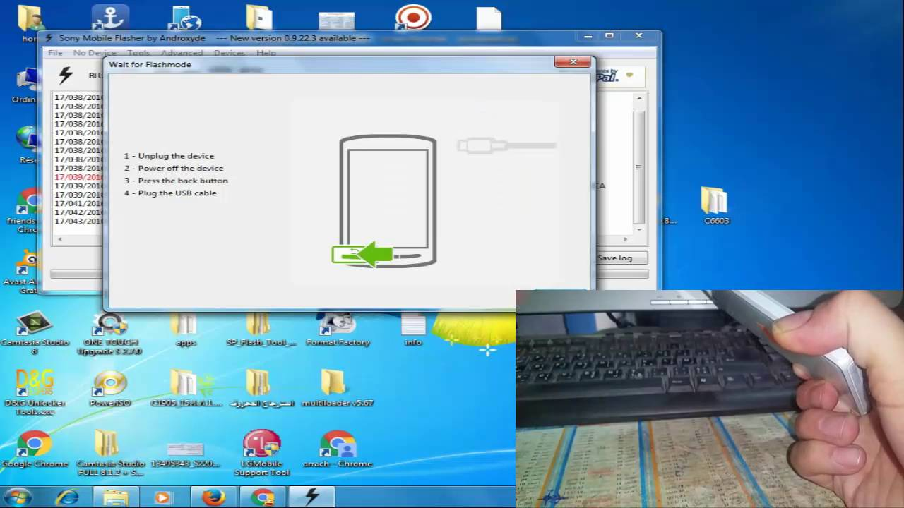Hard Reset SONY XPERIA C6603 5 1 1 with Software Flash tool طريقة عمل سوفت  وير لهواتف سونى