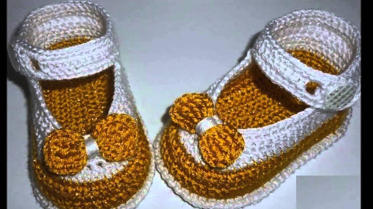 zapatitos a crochet para verano - YouTube