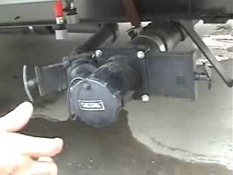 Hooking up travel trailer to septic tank