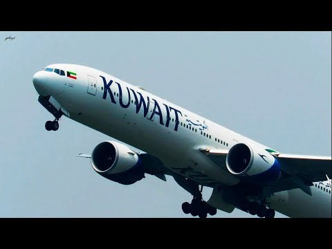 Full Power Take off from Dhaka :: Kuwait Airways Boeing 777-300 :: 9K-AOF