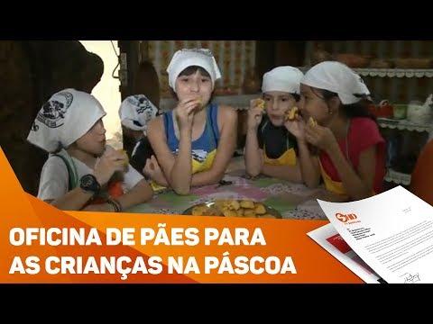 Páscoa: oficina de pães para as crianças - TV SOROCABA/SBT