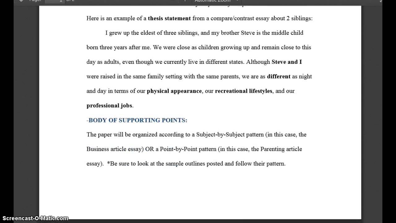 paper compare contrast essay overview video  paper 4 compare contrast essay overview video