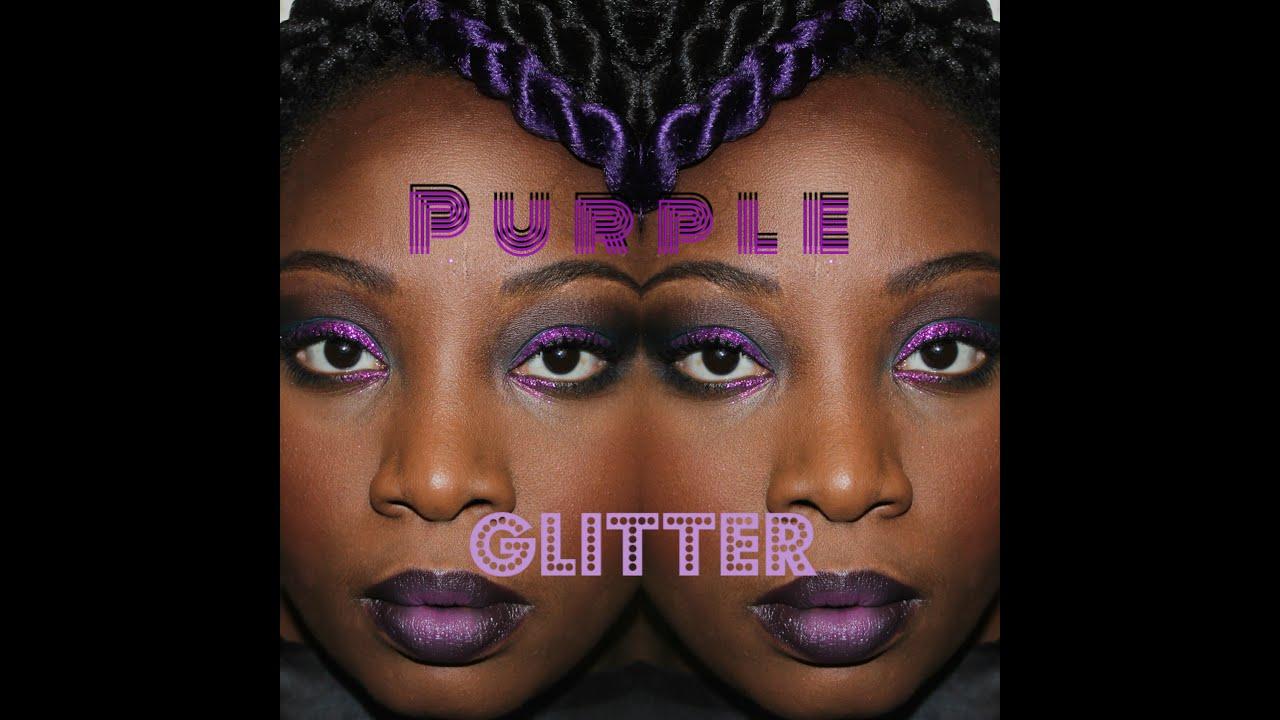 Purple Glitter Eyeshadow Fall Makeup Tutorial - YouTube