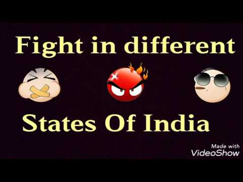 Fight in Different States of India | Funny Video | PBVB
