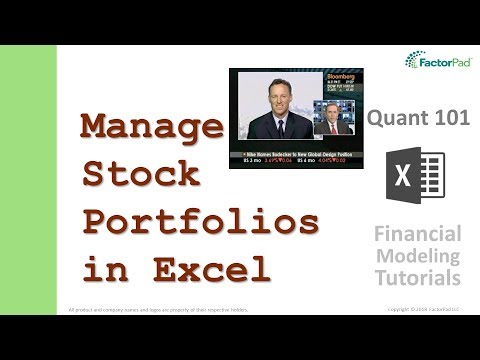 Learn To Manage Stock Portfolios In Excel | Financial Modeling Tutorials
