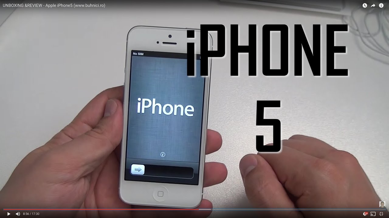 UNBOXING &REVIEW - Apple iPhone5 (www.buhnici.ro)