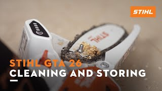 STIHL GTA 26 - Cleaning and storing
