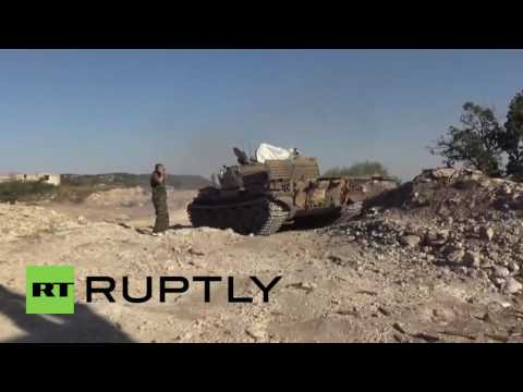 Syria: Syrian Army battle rebels to regain control of Kinsabba