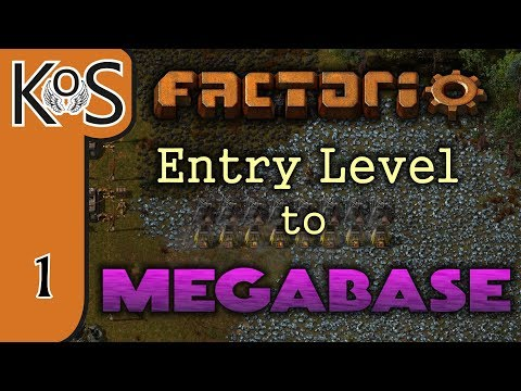 Factorio: Entry Level to Megabase Ep 1: STARTER BASE - Tutorial Series Gameplay