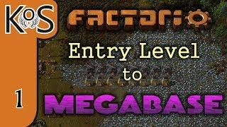 Factorio: Entry Level to Megabase Ep 1: STARTER BASE - Tutorial Series Gameplay