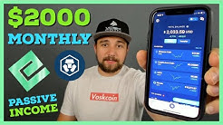 Earning $2000 A MONTH?! Staking Cryptocurrency | Passive Income W/ NRG and Crypto Earn