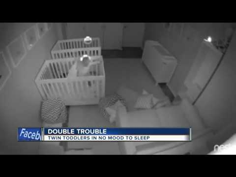 Twin toddlers in no mood to sleep