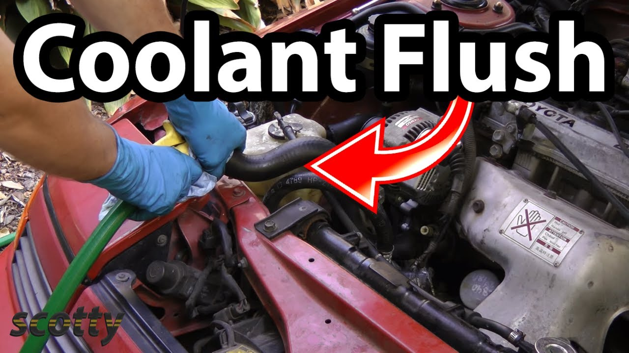 flush  coolant system   car  easy