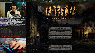 Diablo 2 - Necro Any% Normal World Record Attempts - Day 1