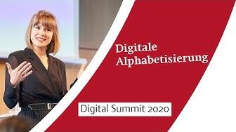 »Die digitale Alphabetisierung« – Keynote von Valerie Mocker zum Digital Summit 2020