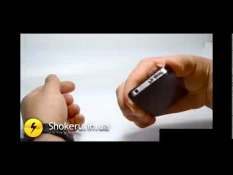 видео: Шокер iphone. Электрошокер, замаскированный под мобильный телефон.