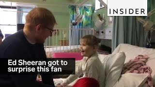 Ed Sheeran made this hospital-bound girl's dream come true