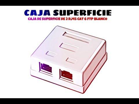 Video de Caja de superficie de 2 RJ45 Cat 6 FTP  Blanco