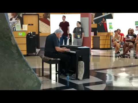Pop up Ragtime Piano performance by Paul Stewart at NC Folk Festival 2018