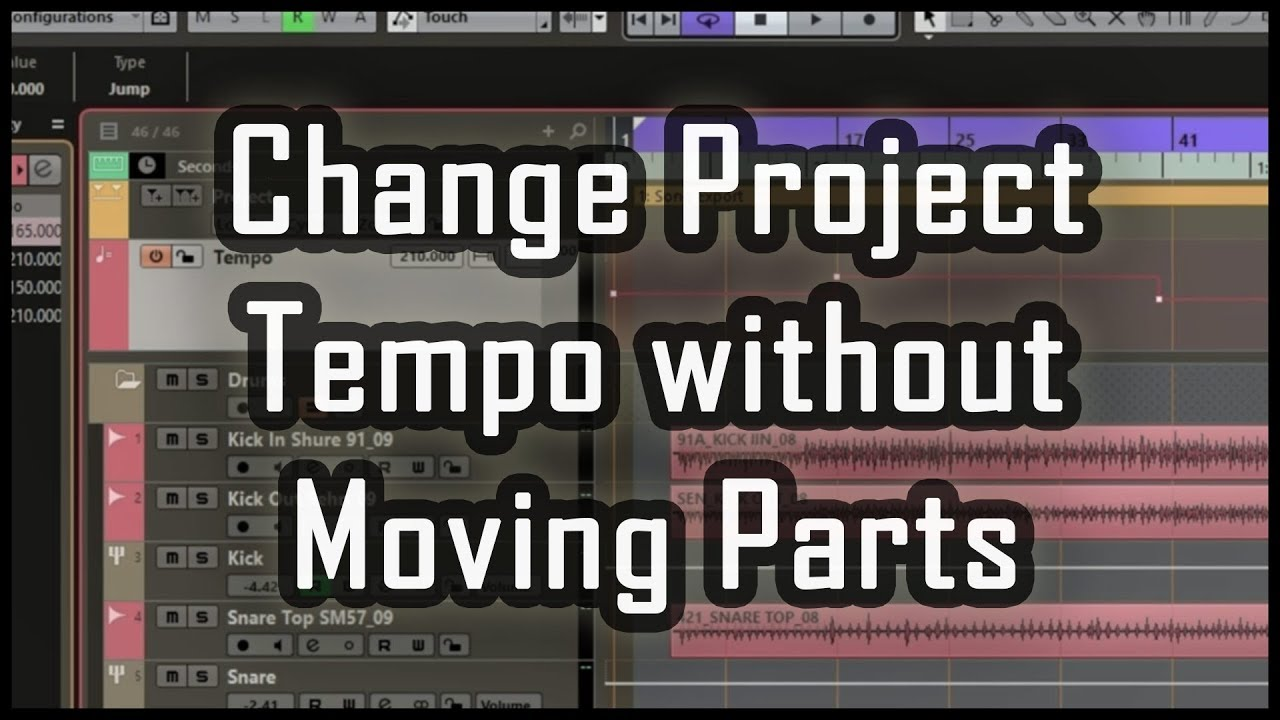 Cubase Fix - Change Project Tempo without Moving Parts