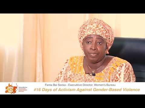Executive Director of Women's Bureau, Madam Fanta Bai-Secka, shares her #iBelieve message for 16 Days of Activism against GBV