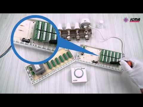 Практическая схема подключения автоматики ICMA арт. Р311, арт. 983, арт. Р308