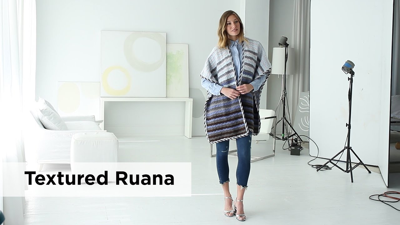 Textured Ruana made with New Basic 175 - YouTube