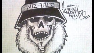 HOW TO DRAW SKULL GANGSTER