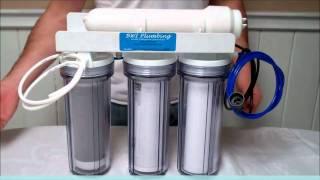 bwi plumbing 4 stage 75 gpd aquarium ro di filter system