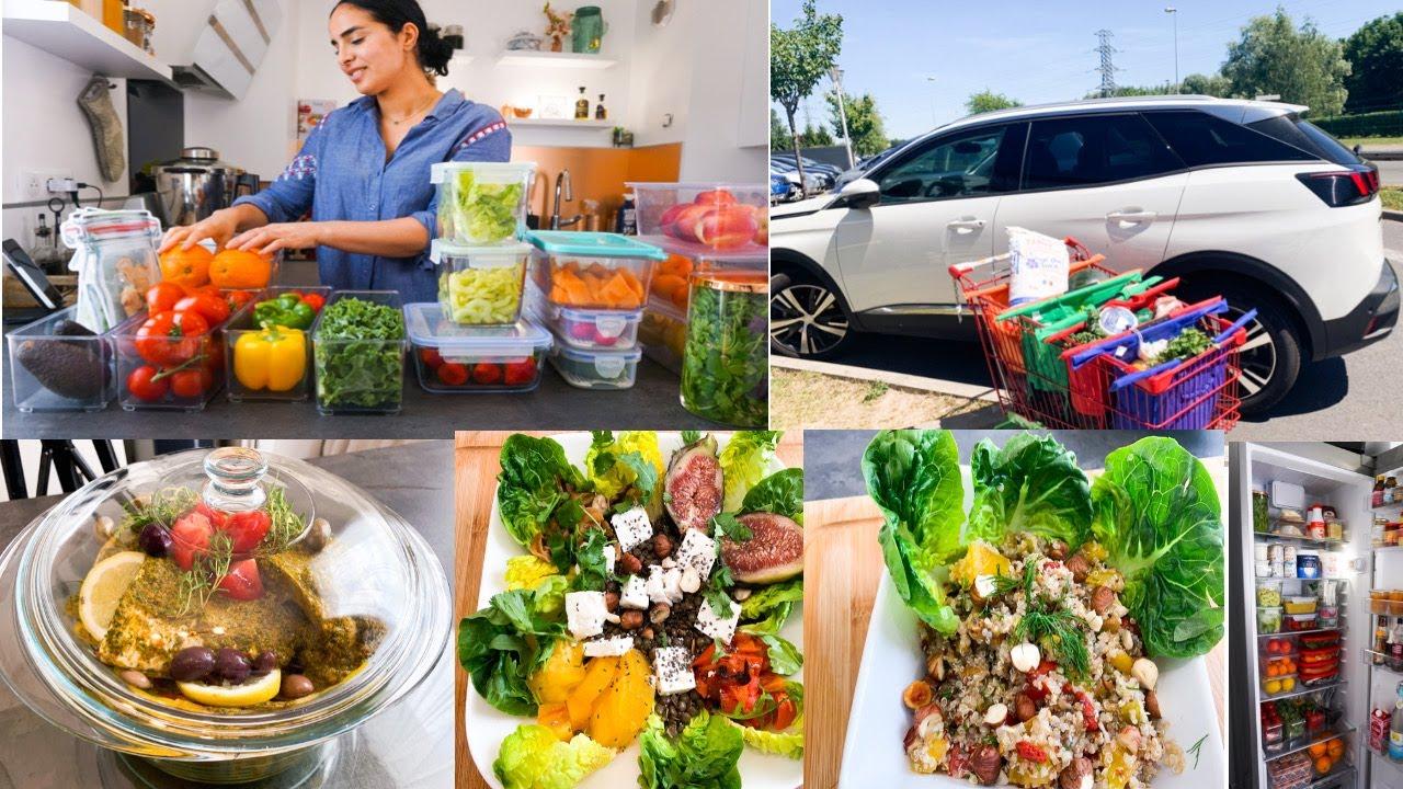 ORGANISATION  ASTUCES RANGEMENT frigo /MEAL PREP😱 Rééquilibrage Alimentaire 😍‼️