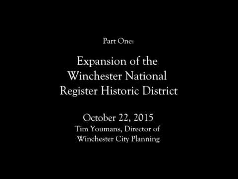 Winchester National Register Historic District and National Ave Corridor Enhancement District