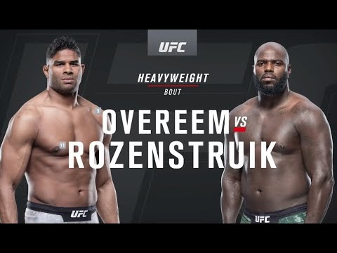 Ufc On Espn 7 Overeem Vs Rozenstruik Recap