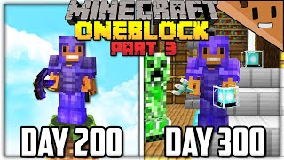 I Spent 300 Days in ONE BLOCK Minecraft... Here's What Happened