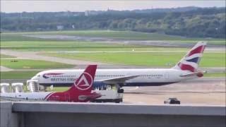 British Airways B767-300 G-BZHC landing at Hamburg Airport