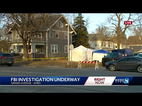 FBI agents conduct hourslong investigation at Ames home