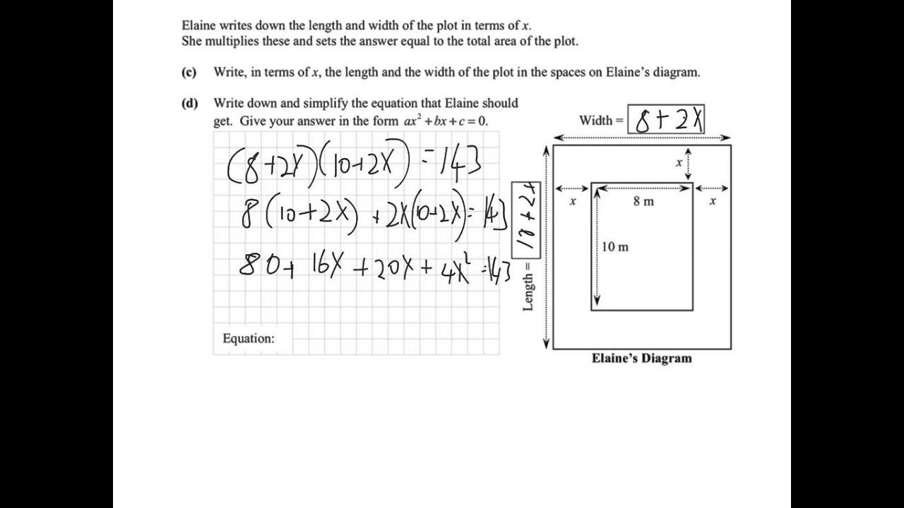 junior cert maths paper 1 solving algebra word problems tutorial youtube. Black Bedroom Furniture Sets. Home Design Ideas