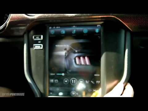 "2015+ Mustang Tesla Style Head Unit 10.1"" screen Entertainment System Review"
