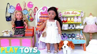 Play Baby Doll Dress Clothes & Shoes Shopping Store!