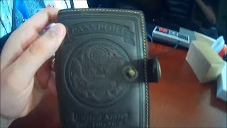 Genuine Leather US Passport ID Card Wallet Unboxed & Tested By MrAlanC
