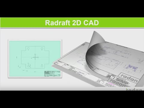 Drafting in RADAN Radraft 2D CAD Обработка чертежей в 2D