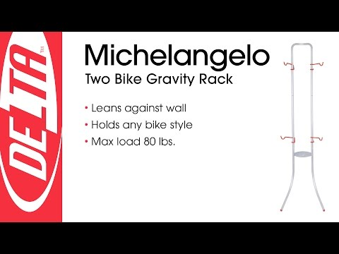 Michelangleo Two Bike Gravity Storage Rack - Delta Cycle