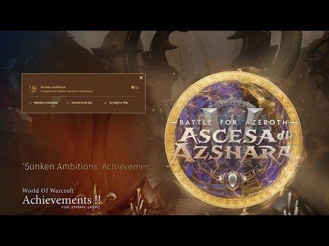 Rise of Azshara-Sunken Ambitions Achievement + Azshara Eternal Palace Cinematic