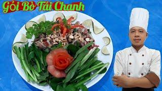 Gỏi Bò Tái Chanh || món ăn tăng cường sức khỏe