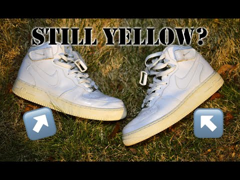 How Did These Hold Up After A Year? - How To Unyellow Nike Air Force 1s Follow-up!
