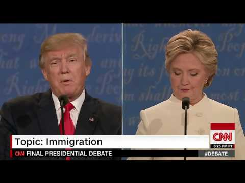 Clinton: Donal Trump choked on border wall with Mexico