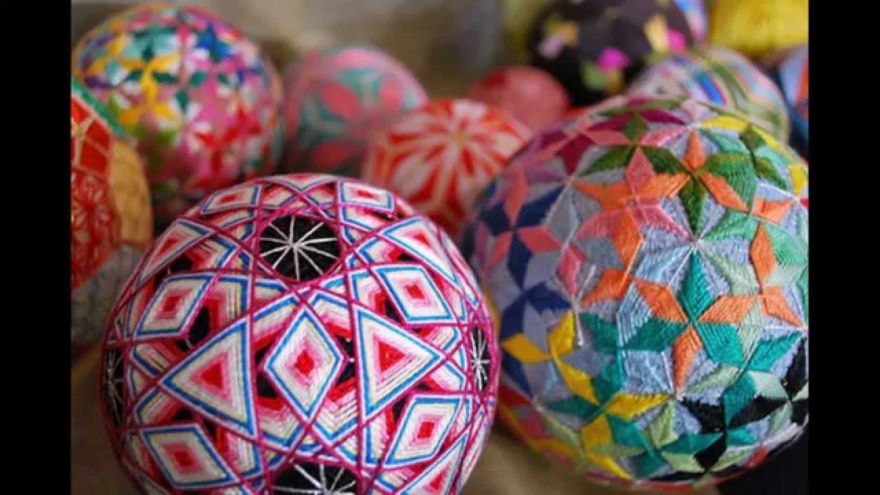 Вышивка шаров темари видео