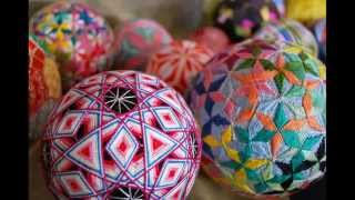 Вышитые новогодние шары