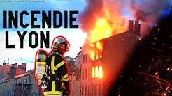 Intervention Pompier De Lyon Lors de L'incendie De La Croix  Rousse (SDMIS 69)