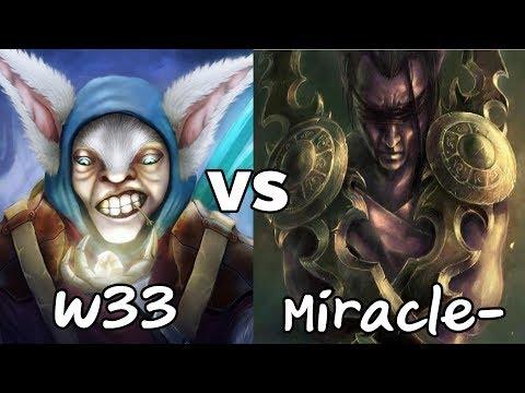 w33 Meepo VS Miracle- Antimage